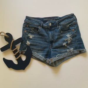 American eagle distressed high-rise Shortie